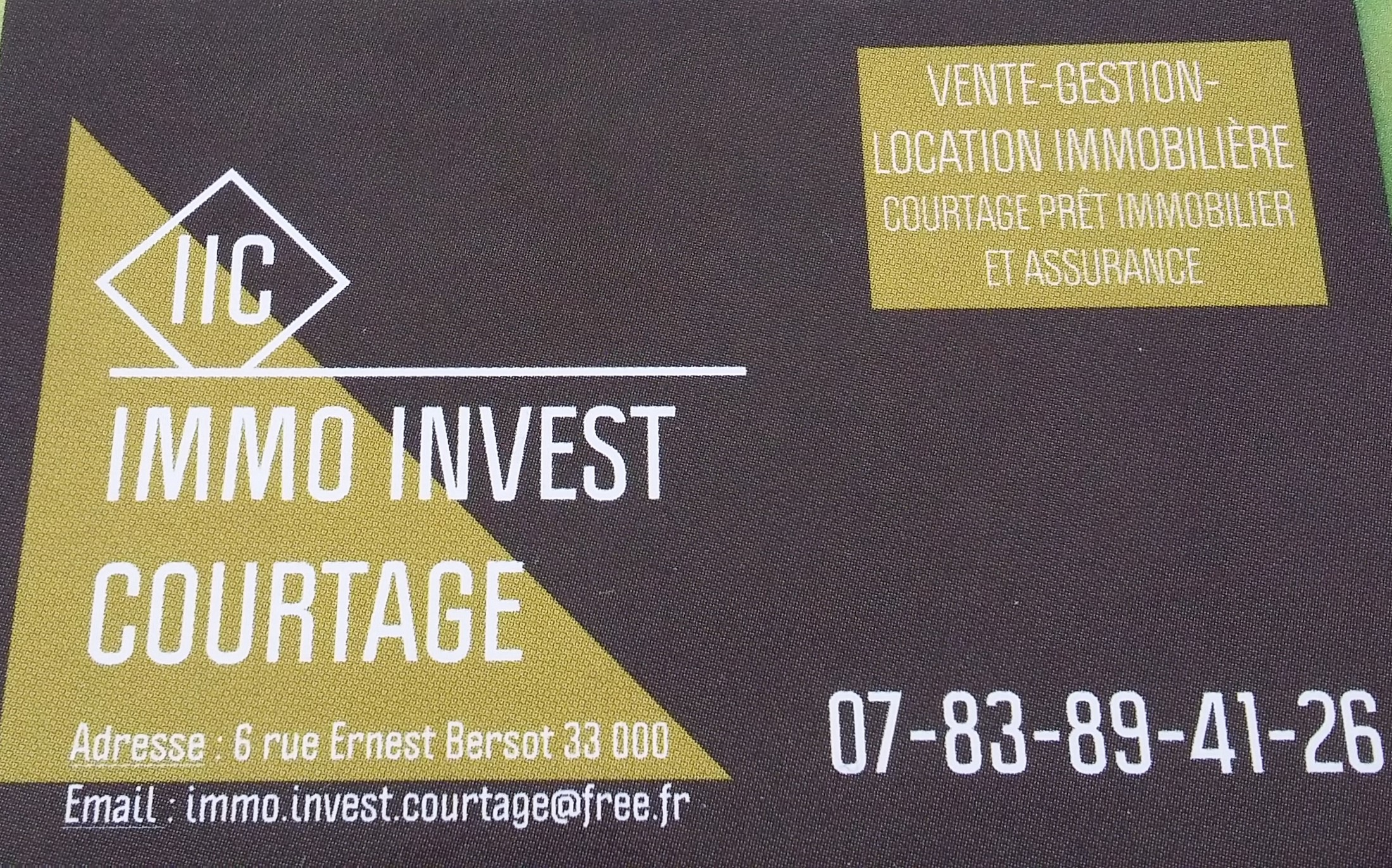 IMMO INVEST COURTAGE